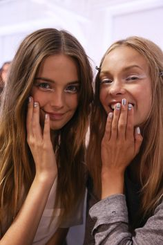 Shimmering silver goodness and the most MAJOR manis at TIbi Spring '14!
