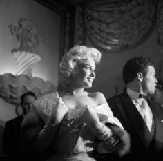 """wehadfacesthen:  """" Marilyn Monroe at the New York City premiere of East of Eden, 1955, photo by Eve Arnold  """""""