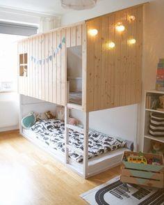5 Genius Ways to Hack an Ikea Kura Bed Kura Ikea, Ikea Bed Hack, Ikea Hacks, Nordli Ikea, Ikea Bedroom, Bedroom Decor, Childs Bedroom, Lego Bedroom, Bedroom Shelves