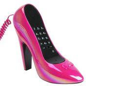 High Heel Shoe Telephone Pink