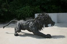 Recycled Art Sculptures | Stunning Animal Sculptures Made of Recycled Tire