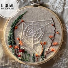 Garden Embroidery, Hand Embroidery Projects, Hand Embroidery Patterns, Cross Stitch Embroidery, Embroidery Designs, Creative Embroidery, Embroidery Store, Hand Sewing Projects, Web Patterns