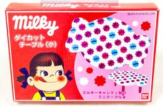 Milky Candy Die-cut Mini Table Peko-chan FUJIYA BANDAI JAPAN ANIME MANGA