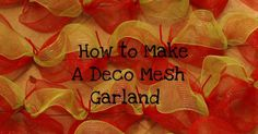 Deco Mesh (also goes by the name poly sinamay mesh) has been the secret ingredient for florist and decorators for years now.  I have...