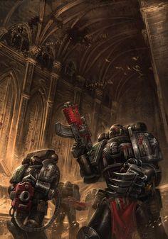 Warhammer 40000,warhammer40000, warhammer40k, warhammer 40k, ваха, сорокотысячник,фэндомы,Devastator Squad,Space Marine,Adeptus Astartes,Imperium,Империум,Deathwatch