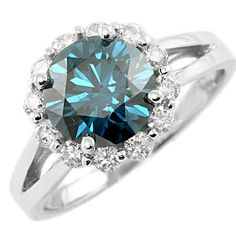 Jewelry Point - 2.74ct Blue Diamond Engagement Ring Gold or Platinum, $8,150.00 (http://www.jewelrypoint.com/2-74ct-blue-diamond-engagement-ring-gold-or-platinum/)