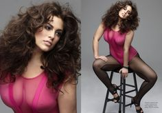 plus-sized model Ashley Graham Firstly she isn't plus size, she is normal and gorgeous!
