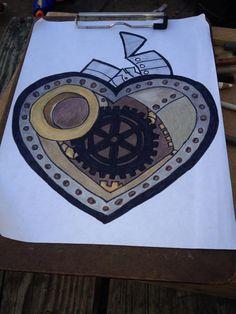 Take six steampunk heart