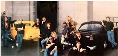 American Graffiti cast and coupe reunion, photographed by Annie Leibovitz January 2000 for Vanity Fair's April 2000 issue.