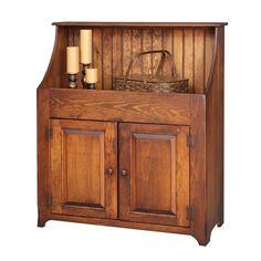 Amish Primitive Dry Sink Storage Cabinet Cupboard Antique Look ...