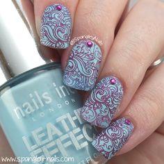 Spangley Nails | UK Nail Art Blog: MESSY MANSION MAKES TIDY NAILS: STAMPING PLATE REVIEW
