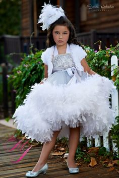 Extreme Elegance Girls Stunning Feather Dress. -oh my! So pretty!