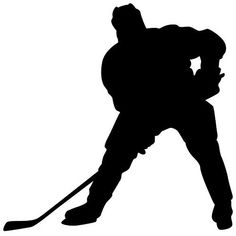 Hockey Wall Sticker Decal 7 - Decal Stickers and Mural for Kids Boys Girls Room and Bedroom. Sport Wall Art for Home Decor and Decoration - Ice Hockey Player Silhouette Mural