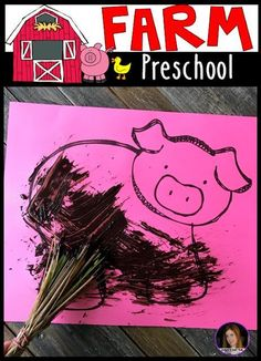 Farm Hands On Activities for Preschool. Are you looking for fun hands on farm activities that revolve around important farm concepts, themes and book? Your students/children will love Farm Activities for Preschool! Farm Animals Preschool, Farm Animal Crafts, Farm Crafts, Farm Lessons, Preschool Lessons, Preschool Crafts, Preschool Ideas, Preschool Learning, Farm Activities