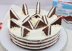 Ohne Backen! – Geniale Milchschnitten-Torte