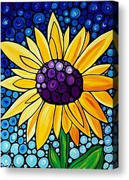 Floral Canvas Prints - Basking In The Glory Canvas Print by Sharon Cummings