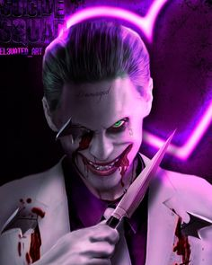 "Quinn's FanArt ♥ ""and other ovet *18 Stuff* "" — joker-eruri: Jared Leto's Joker by el3vated_art,..."