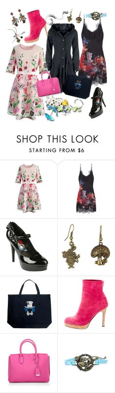"""""""Wonderland Wonder"""" by april-wilson-nolen ❤ liked on Polyvore featuring Chicwish, Carine Gilson, Los Angeles Pop Art, Christian Louboutin and MCM"""