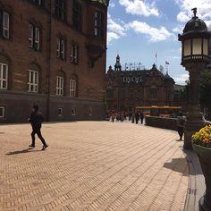Latergram fra en skøn sommerdag i Kbh, nærmere Rådhuspladsen med PK06K #belægning #københavn #tegl #landscape_lover #landscapearchitecture #klinker #sildeben