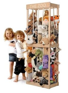 DIY: Toy storage is a big issue for a lot of families – especially so when soft toys are involved. The Zoo is a perfect storage solution and a toy in itself – perfect for keeping teddys, dolls and any burgeoning plush menagerie contained!