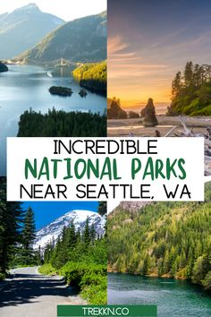 If you're looking for adventure, gorgeous scenery and outdoor memories you'll hold on to forever, any of the National Parks near Seattle, WA are for you. Add these locations to your west coast bucket list and get ready for some serious exploration. In this traveler's guide, we've included where to stay, what to do and more. Plus, if you love RV camping, we have details on RV parks near each National Park. #seattle #washington #nationalparks #findyourpark #travel National Park Lodges, North Cascades National Park, Mount Rainier National Park, Us National Parks, Grand Teton National Park, Rocky Mountain National Park, Yellowstone National Park, Oregon Travel, Travel Usa