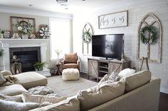 amazing home living room sofa design and decorating ideas Room Design, Wall Decor Living Room, New Living Room, Home, Room Remodeling, Livingroom Layout, Farm House Living Room, Living Room Sofa Design, Home Decor