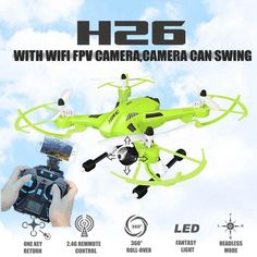 101.28$  Buy here - http://alir0n.worldwells.pw/go.php?t=32601981883 - Fpv Drones With Camera Hd Jjrc H26 Swing Wifi Radio Camera Hexacopter Professional Drone Dron Rc Quadcopter Flying Helicopter 101.28$