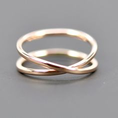 14K Rose Gold Infinity Ring Alternative Wedding von seababejewelry