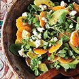 Avocado and Tangerine Salad with Jalapeno.  I'm trying this tonight.  I have more avacados than I know what to do with!