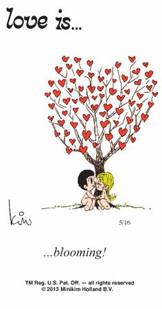 Love is... blooming.  5-16-13
