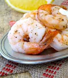 Roasted shrimp cocktail with lemon caper cream sauce