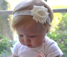 Flower girl headband.