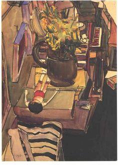 """View into the Artist's Atelier"", 1910, Egon Schiele."