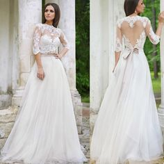 Find More Wedding Dresses Information about 2016 Saudi Arabia Half Sleeves Appliques A Line Wedding Dress Scoop Lace Wedding Dress With Ribbons Vestido De Noiva NB254,High Quality dresses topshop,China dresses green Suppliers, Cheap dress up costumes for kids from Viman's Bridal on Aliexpress.com
