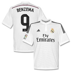 588cd8522 Adidas Real Madrid Home Benzema 9 Shirt 2014 2015 Real Madrid Home Benzema  9 Shirt 2014