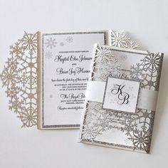 Winter Wedding Invitation Snowflake Invitation Elegant   Etsy Snowflake Invitations, Glitter Invitations, Laser Cut Wedding Invitations, Elegant Wedding Invitations, Laser Cut Invitation, Invitation Envelopes, Invitation Ideas, Invitation Cards, Invites