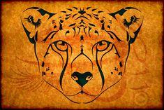 such a cute idea ... Cheetah Tribal Tattoo Design by Amoebafire.deviantart.com on @deviantART