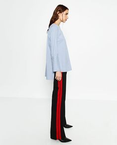 TROUSERS WITH SIDE BAND-View all-TROUSERS-WOMAN | ZARA United States