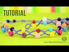 Beaded Bracelet Tutorial | Macrame School - YouTube