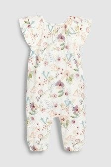 2a0a275f5a71 Floral Jersey Romper (0mths-2yrs) Kids Clothes Patterns