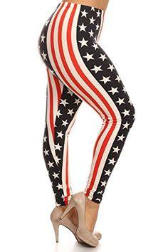 ebf760a05f81e Always Fair Isle Print Leggings for Big Women - XL Printed Leggings at Amazon  Women's Clothing store: