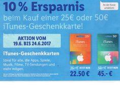 Lidl: Zehn Prozent iTunes-Rabatt in der kommenden Woche https://www.discountfan.de/artikel/tablets_und_handys/lidl-zehn-prozent-itunes-rabatt-in-der-kommenden-woche.php Der Discounter Lidl bietet in der kommenden Woche wieder eine Rabatt-Aktion für seine iTunes-Karten: Die Guthabenkarte mit 25 Euro kostet nur noch 22,50 Euro, die mit 50 Euro wird für 45 Euro angeboten. Lidl: Zehn Prozent iTunes-Rabatt in der kommenden Woche (Bild: Lidl.de) Der iTunes-Rabatt bei... #Itune