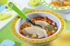 Przepis na obiad dla dziecka – rosół z warzywami i mięsem
