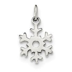 Sterling Silver Polished Snowflake Charm QC8601