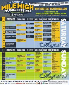 mile high festival schedule
