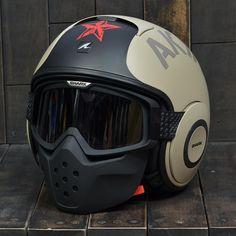 Shark RAW Helmet - Soyouz Half Army Full Classic Pilot