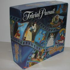 Trivial Pursuit Disney The Animated Picture Edition Board Game has questions for children and for adults!  #disney #games #trivialpursuit