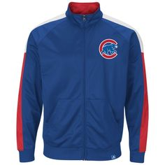 Chicago Cubs Take Out Slide Full-Zip Track Jacket by Majestic | SportsWorldChicago.com  #ChicagoCubs @cubsbaseball