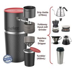 Cafflano Klassic: Travel Coffee Maker is the Perfect Answer for Coffee Connoisseurs - #coffee #invention #mornings