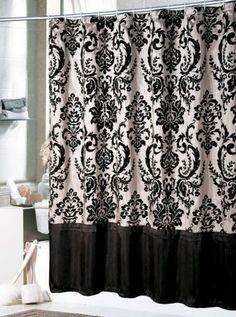 Black White Window Curtains